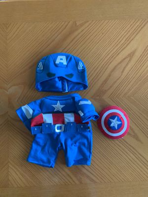 Build A Bear Captain America Costume PERFECT CONDITION for Sale in Morton Grove, IL