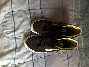 black and gold high top vans for Sale in Little Rock, AR
