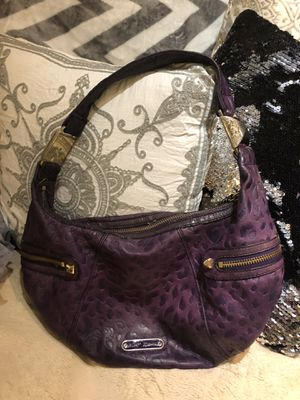 Purple real leather betsey Johnson purse for Sale in Frederick, MD