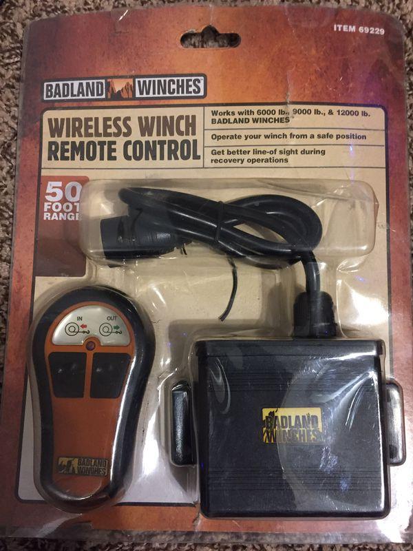 Badland Winches wireless winch remote control