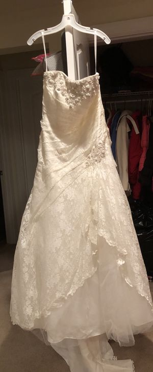 Size 14w Strapless Ivory Lace Wedding Dress for Sale in Moseley, VA