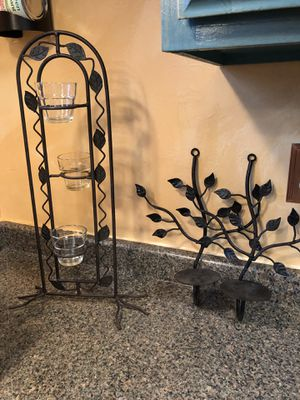 Pair of wall sconces and votive candle holder. for Sale in Independence, OH