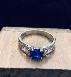 PLATA /WOMEN/BLUE /925 STERLING SILVER RING/ SIZE 10 for Sale in Whittier,  CA