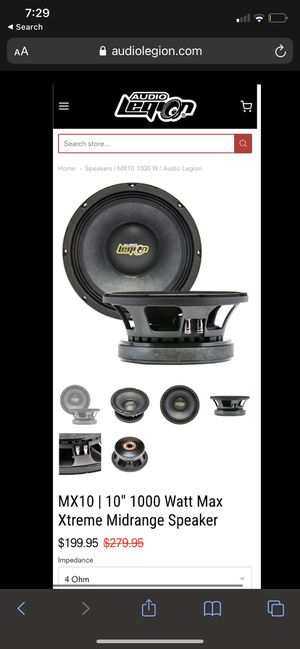 """audio legion 10"""" subwoofers for Sale in Lake Wales, FL"""