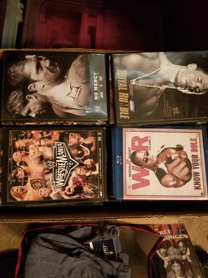 Tons of wrestling DVDs and Blu Ray for Sale in Ontario, CA