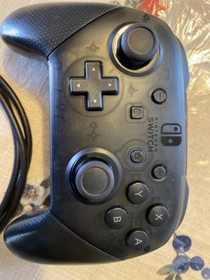 Nintendo Switch Pro Controller/with Charging Cable for Sale in Clovis, CA