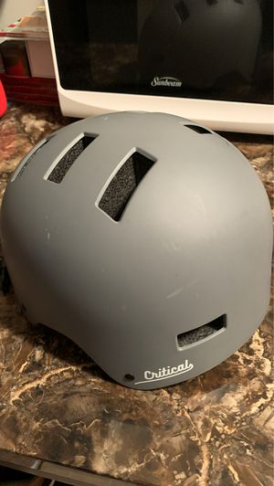 Critical Bike Helmet large Gray hardly used for Sale in Minneapolis, MN