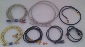 Lot of 7 Nice Good Monster Cable Audio Speaker Cables w/ 24k Gold Contacts & More for Sale in Lakeside, CA