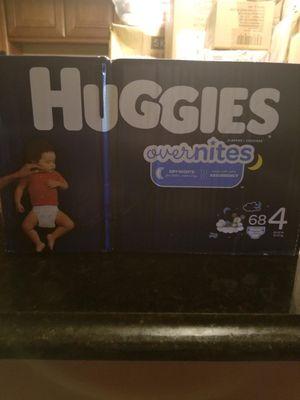 Huggie overnites diapers for Sale in Barnegat, NJ