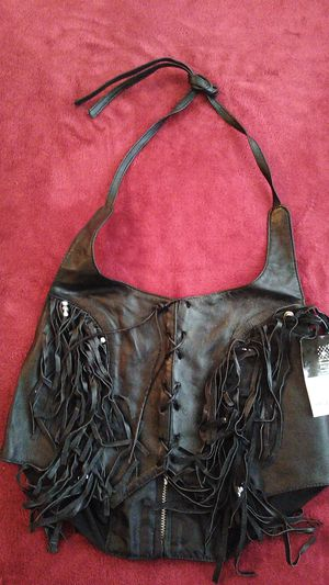 Brand New Fringed Leather Halter Top XL for Sale in Oakland Park, FL