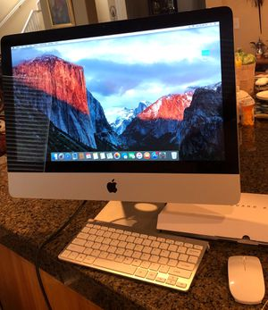 "21 "" screen All in one system silver Apple iMac 500gb hard drive and 3.1ghz with brand new wireless mouse and keyboard for Sale in Modesto, CA"