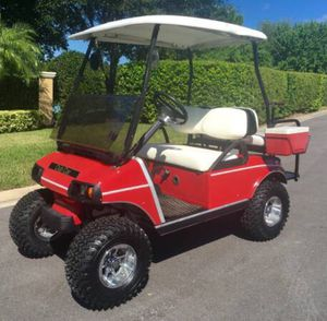 Golf cart club car lifted red for Sale in Tampa, FL