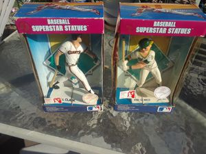 A's and giants superstar collectible statues jose canseco and will clark 1988 in box $15 each for Sale in Manteca, CA