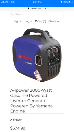 Generator 2000 for Sale in San Bernardino, CA