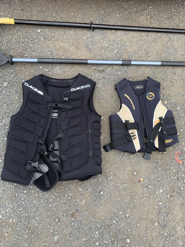 Dakine and Neilpryde life jackets impact vests
