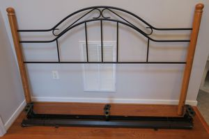 Great King Size Bed Headboard w/Metal Frame for Sale in Chesterfield, VA