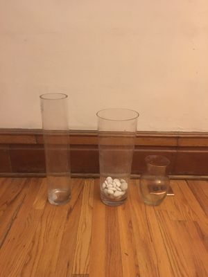 Decorative Cylinder Vase Clear for Sale in Denver, CO