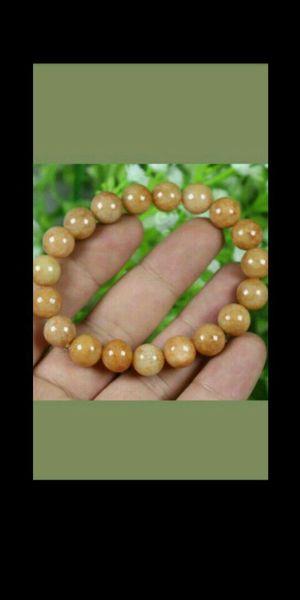 11mm Bead Cert'd Yellow 100% Natural A Jade Jadeite Bracelet for Sale in Richmond, CA