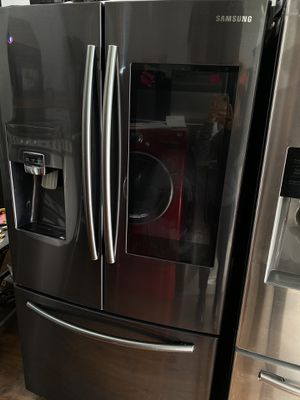 Samsung black stainless steel French style with family hub 2019 for Sale in Santa Ana, CA