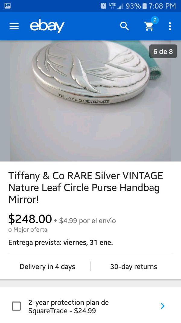 TIFFANY & CO RARE SILVER VINTAGE MIRROR