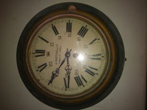 19th Century French Station Industrial Wall Tole Clock for Sale in Houston, TX