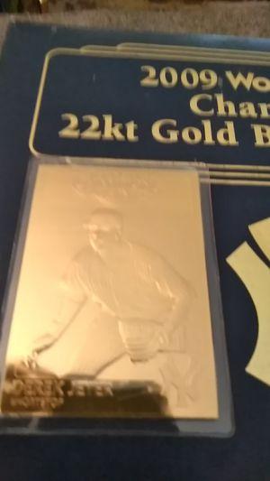 2009 World Series Gold Card *Derek Jeter for Sale in Shelton, CT