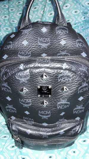 Mcm backpack 100% official Black studs for Sale in Washington, DC