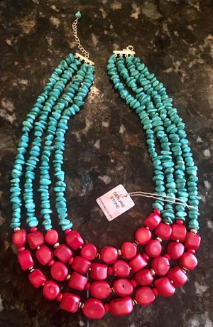 Red and Green necklace. Genuine stones / Sterling Silver for Sale in Tyler, TX