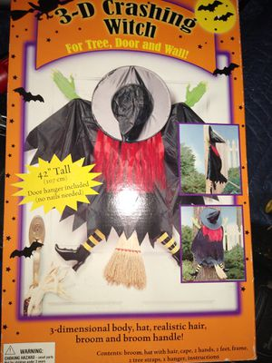 New 3D Hall ween witch for Sale in Oak Lawn, IL