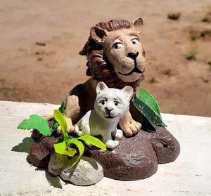 Lion and Cub Terrarium Decor for Sale in Hemet, CA