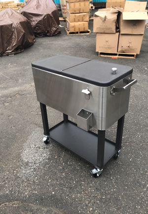 """Coolers on wheels with bottle opener 33"""" L x18""""Wx34""""tall for Sale in Portland, OR"""