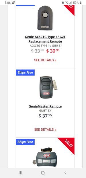 Genie garage door remote. for Sale in Round Rock, TX