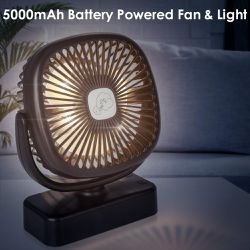 Portable LED Camping Lantern with Tent Fan -5000 mAh for Sale in Los Angeles,  CA