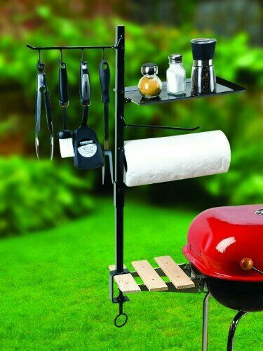Barbecue Organizer BBQ Grill Accessory Utensils Condiment Holder Outdoor Cooking Stand