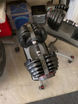 Bowflex dumbbells with stand for Sale in Bakersfield, CA