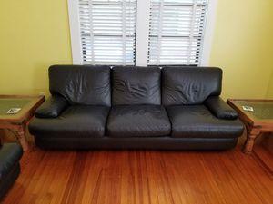 ROCHE leather sofa for Sale in Palm Beach, FL