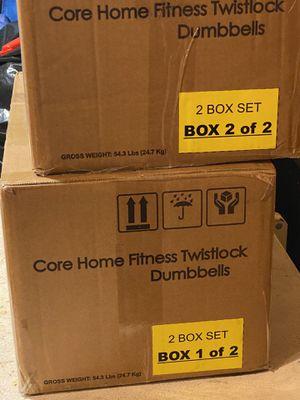 Core Home Fitness Adjustable Dumbbells Set for Sale in Mount Laurel Township, NJ