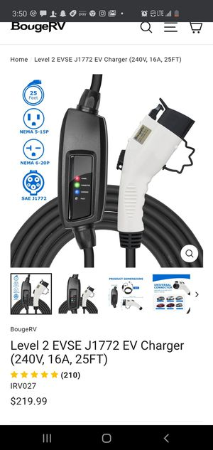 $185 BOUGE RV ELECTRIC CAR CHARGER for Sale in Las Vegas, NV