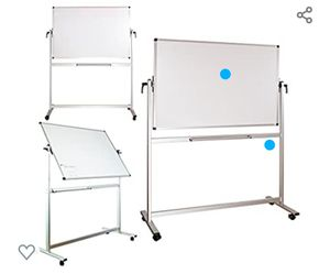 Mobile Magnetic Whiteboard, Dry Erase Board 60 x 40, Double Sided White Board for Sale in Los Angeles, CA