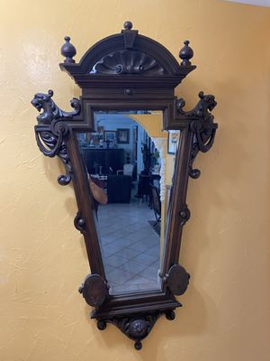 "Unique antique wooden mirror. 50"" X 29"". Excellent conditions. Please check my other items for Sale in Coral Gables, FL"
