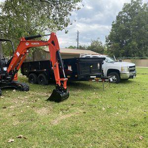 Mini Excavator Dump Trailer (kubota,big Tex) for Sale in Houston, TX