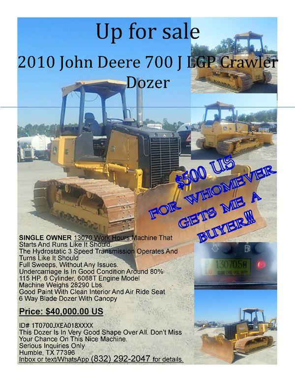 2010 John Deere Crawler Tractor/Dozer