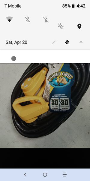 RV/CAMPER EXTENSION CORD for Sale in Tenino, WA