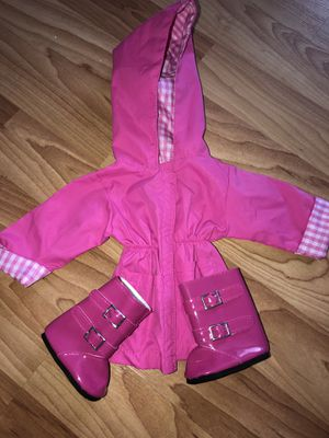 Doll rain jacket & boots: no brand-fits American Girl & Our Generation for Sale in Lakeside, CA