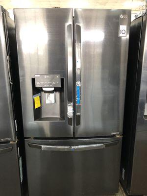 LG BLACK stainless door in door refrigerator for Sale in Houston, TX