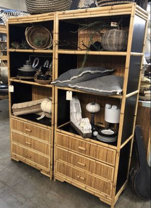 Boho rattan bookshelves for Sale in Phoenix, AZ