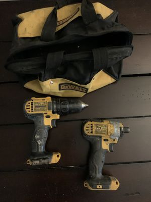 """Dewalt cordless drill and driver and 1/4"""" impact driver for Sale in Cary, NC"""