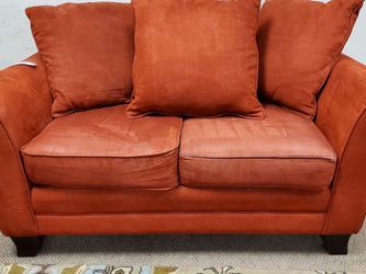 Red Microfiber Loveseat Couch for Sale in Denver,  CO