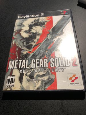 Metal gear solid 2 ps2 for Sale in Seattle, WA