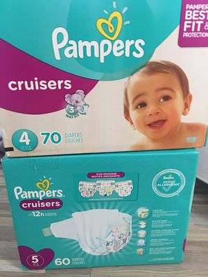 Pampers diapers 15 each box for Sale in Tampa, FL
